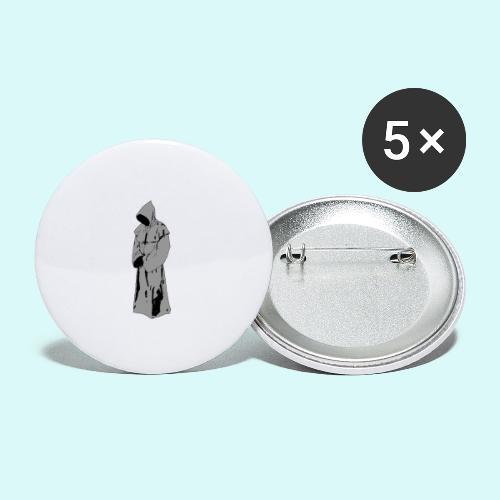 moine fantôme - Lot de 5 grands badges (56 mm)
