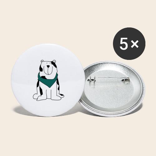 Gros chien mignon - Lot de 5 grands badges (56 mm)
