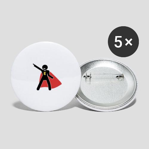 E - Hero - Buttons groß 56 mm (5er Pack)