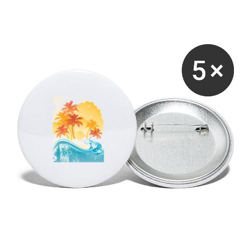 Palm Beach - Buttons large 2.2''/56 mm(5-pack)