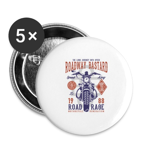 Roadway Bastard - Buttons groot 56 mm (5-pack)