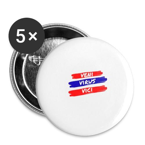 veni-virus-vici - Confezione da 5 spille grandi (56 mm)