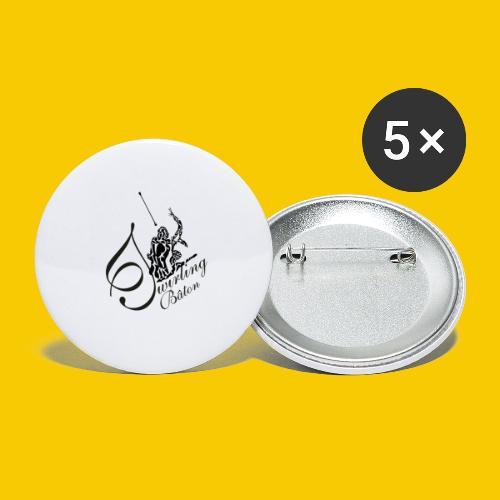 twirling b 2 - Lot de 5 grands badges (56 mm)