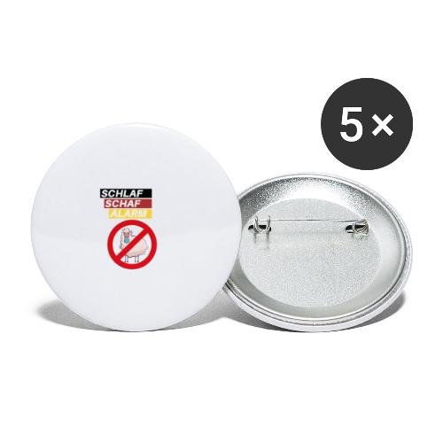 Schlaf-Schaf-Alarm - Buttons groß 56 mm (5er Pack)