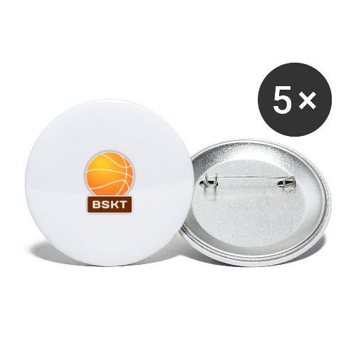 Basket - Paquete de 5 chapas grandes (56 mm)