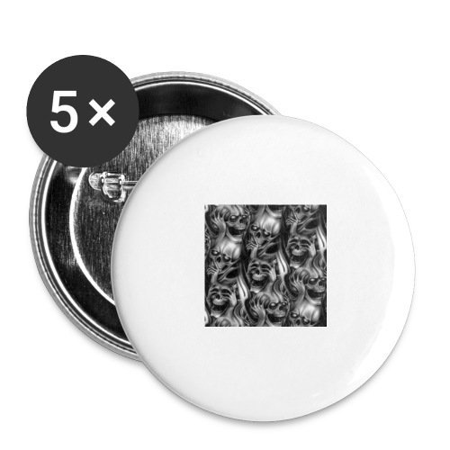 Skulls - Buttons large 2.2''/56 mm (5-pack)