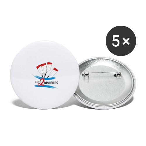 Entre 2 Rivières - Lot de 5 grands badges (56 mm)