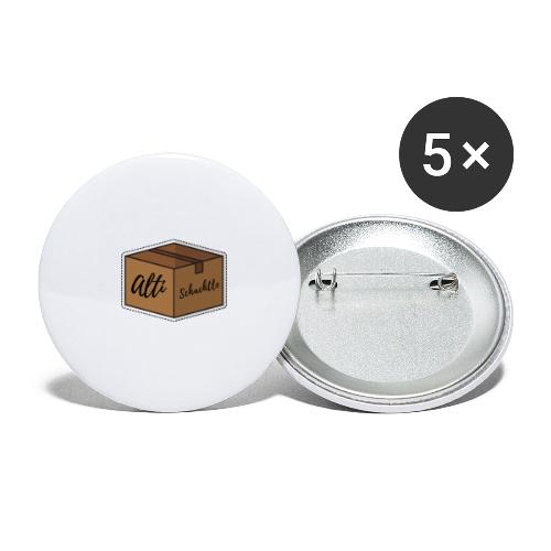 Alti Schachtle - Buttons groß 56 mm (5er Pack)