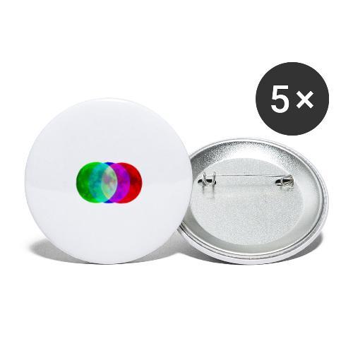 RGB moon - Przypinka duża 56 mm (pakiet 5 szt.)