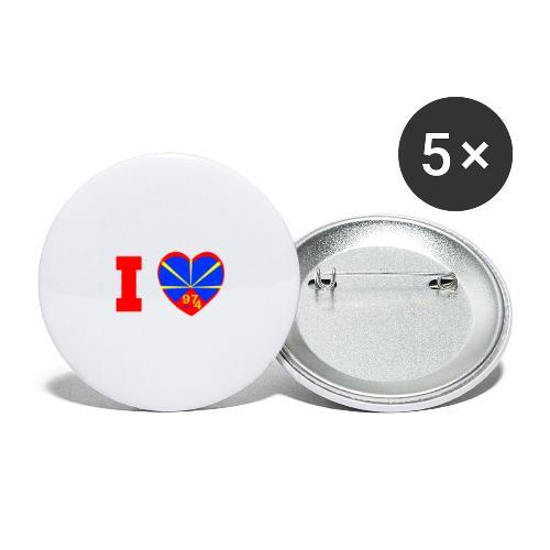 I love 974 - Lo Mahaveli - Lot de 5 grands badges (56 mm)