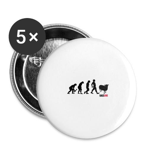 J'accuse (version dark, par parek) - Lot de 5 grands badges (56 mm)