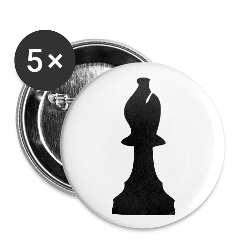 chess - Buttons groot 56 mm (5-pack)