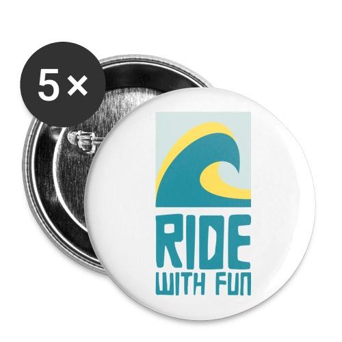 rwf - Buttons groß 56 mm (5er Pack)