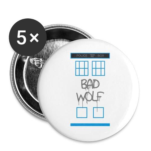 Doctor Who Bad Wolf - Confezione da 5 spille grandi (56 mm)