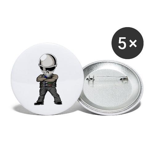 Böser Streetfighter - Buttons groß 56 mm (5er Pack)