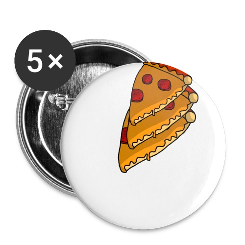 pizza - Buttons/Badges stor, 56 mm (5-pack)