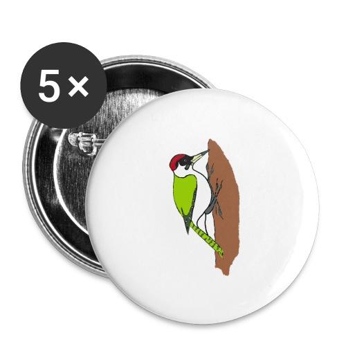 pivert - Lot de 5 grands badges (56 mm)