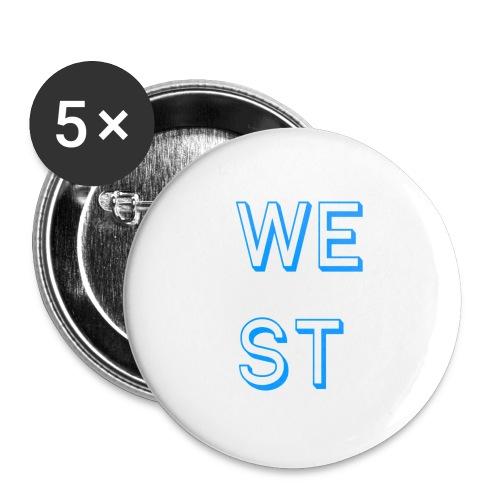 WEST LOGO - Confezione da 5 spille grandi (56 mm)