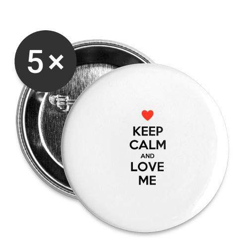 Keep calm and love me - Confezione da 5 spille grandi (56 mm)