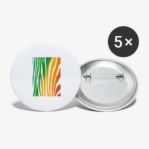 zebralong png - Stora knappar 56 mm (5-pack)