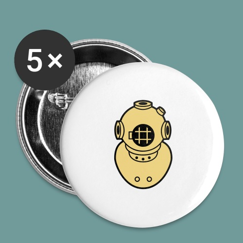 scaph_02 - Lot de 5 grands badges (56 mm)