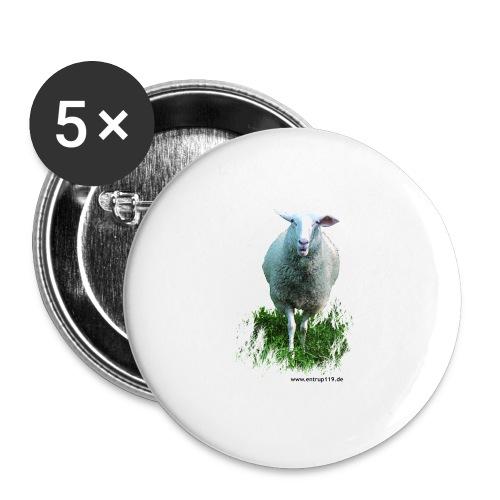 Gemaltes Entrup Schaf - Buttons groß 56 mm (5er Pack)