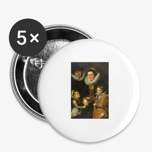 familie-engels2-canvas - Buttons groot 56 mm (5-pack)