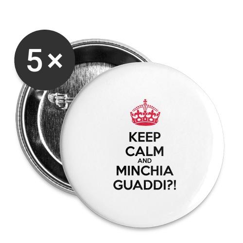 Minchia guaddi Keep Calm - Confezione da 5 spille grandi (56 mm)