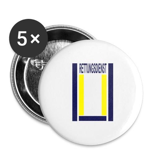 Rettungsdienst Junior Shirt - Buttons groß 56 mm (5er Pack)