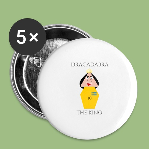IBRACADABRA - THE KING - Stora knappar 56 mm (5-pack)