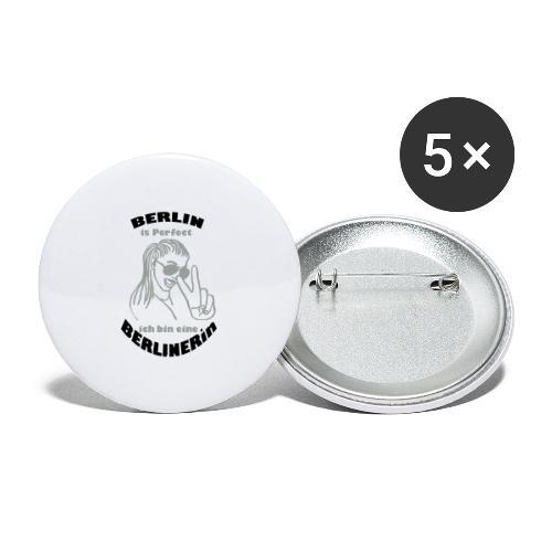 ich bin eine Berlinerin - Buttons groß 56 mm (5er Pack)