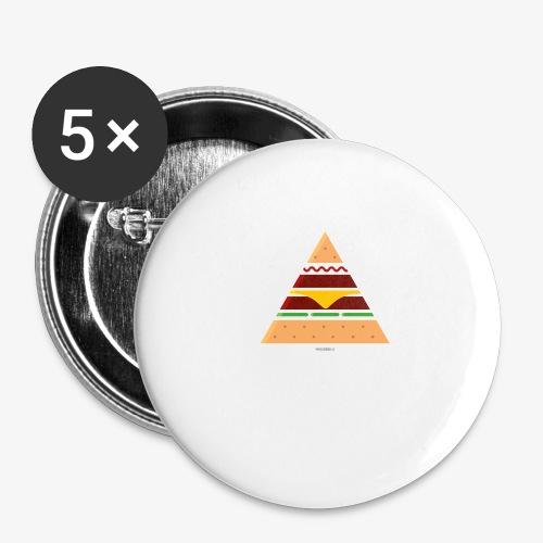 Triangle Burger - Confezione da 5 spille grandi (56 mm)