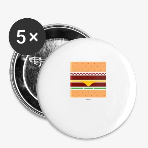 Square Burger - Confezione da 5 spille grandi (56 mm)