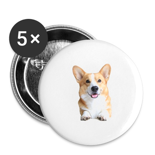 Topi the Corgi - Frontview - Buttons large 2.2''/56 mm(5-pack)
