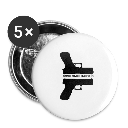 WorldMilitaryHD Glock design (black) - Buttons groot 56 mm (5-pack)