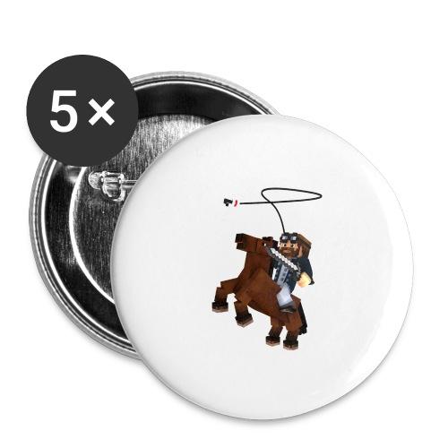 Titan y su rocinante café - Paquete de 5 chapas grandes (56 mm)