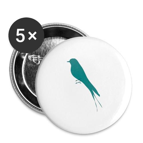 Golondrina - Paquete de 5 chapas grandes (56 mm)