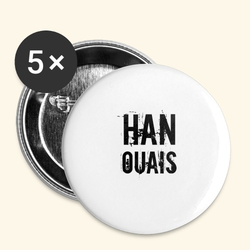 Han ouais basic tribunal charleroi - Lot de 5 grands badges (56 mm)