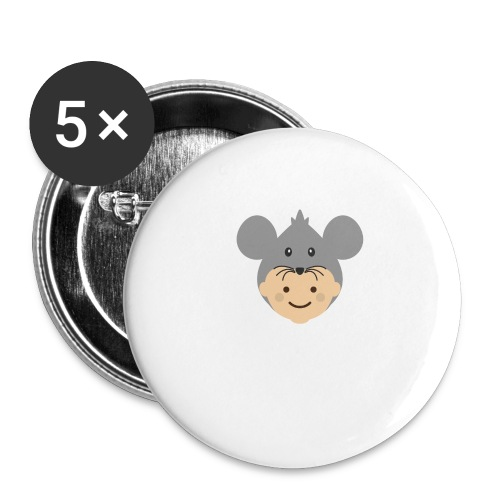 Mr Mousey | Ibbleobble - Buttons large 2.2''/56 mm (5-pack)