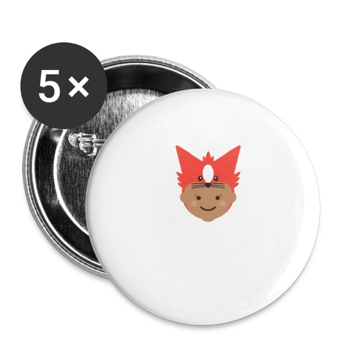 Florence the Fox | Ibbleobble - Buttons large 2.2''/56 mm (5-pack)