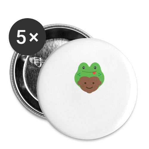 Tom the Frog   Ibbleobble - Buttons large 2.2''/56 mm(5-pack)