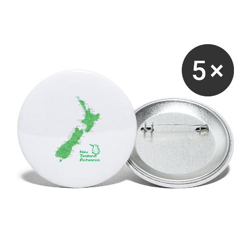 New Zealand's Map - Buttons large 2.2''/56 mm(5-pack)