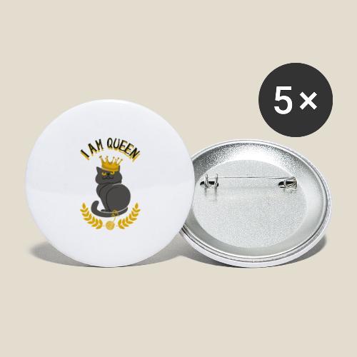 I am Queen - Lot de 5 grands badges (56 mm)