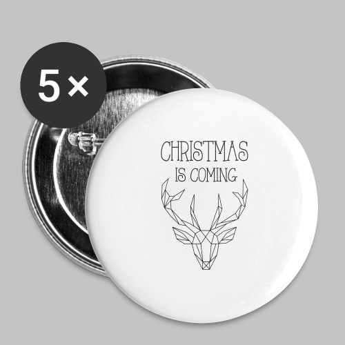 Deer Christmas - Buttons large 2.2''/56 mm(5-pack)