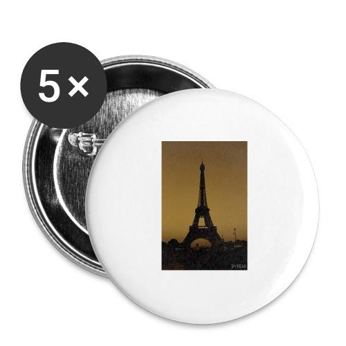 Paris - Buttons large 2.2''/56 mm(5-pack)