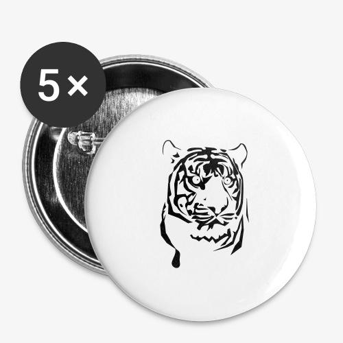 tiger - Przypinka duża 56 mm (pakiet 5 szt.)