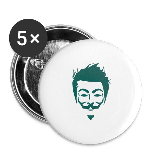Anonymous Hipster - Lot de 5 grands badges (56 mm)