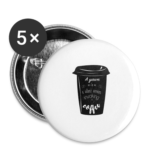 Coffee - Confezione da 5 spille grandi (56 mm)