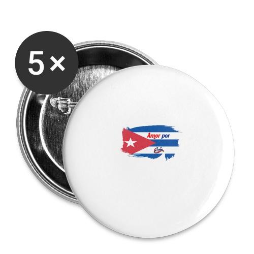 Amor Por Cuba - Confezione da 5 spille grandi (56 mm)