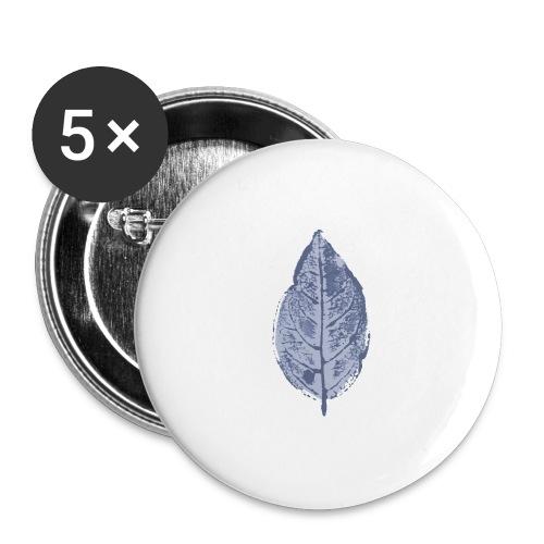 Blatt Buche Wasserfarbe - Buttons groß 56 mm (5er Pack)